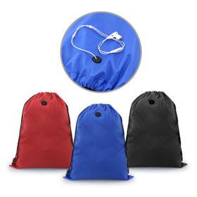Drawstring bag with Earpiece Eyelet