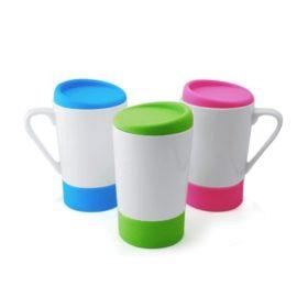 Aden Ceramic Mug with Silicon Lid