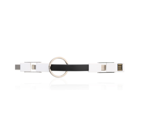 3001AME.1 3 IN 1 MAGNETIC SHORT USB CHARGE CABLE