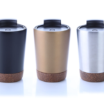 8301CDH Stainless steel vacuum mug with cork base