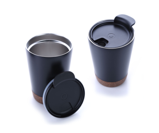 8301CDH. 1 Stainless steel vacuum mug with cork base