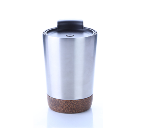 8301CDH. 3 Stainless steel vacuum mug with cork base