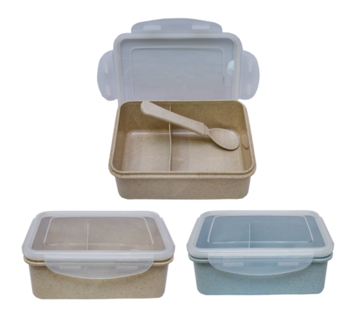 GM0034 Wheat straw lunchbox with spoon