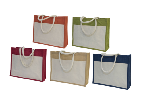 GM0047 Jute Bag with front pocket