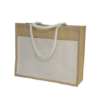 GM0047 Jute Bag with front pocket. 2
