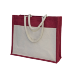 GM0047 Jute Bag with front pocket. 3