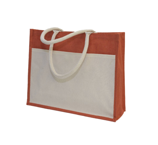 GM0047 Jute Bag with front pocket. 4