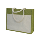 GM0047 Jute Bag with front pocket. 5