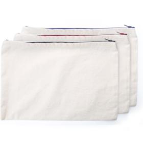 A4 Cotton Zip Pouch